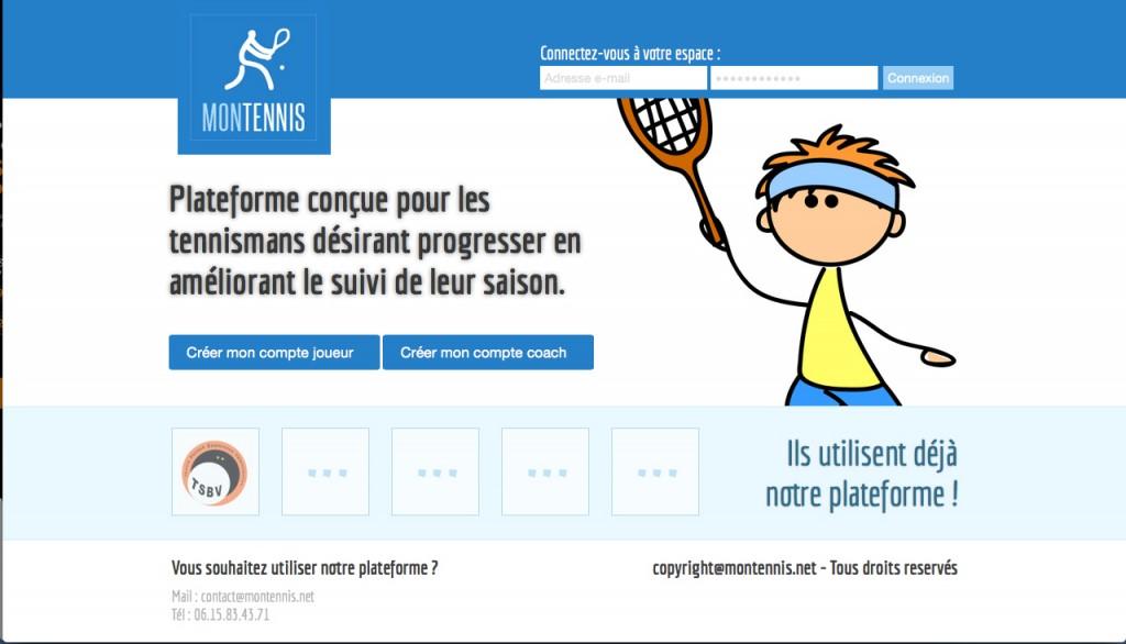 Gestion de saison pour tennisman